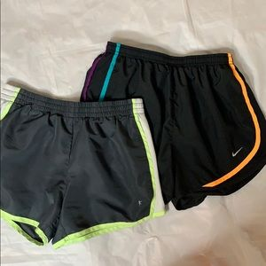 "🍀""Nike"" Dri fit and ""Danskin"" walking shorts"